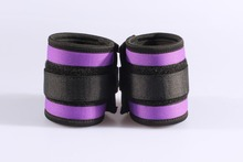 Purple sponge and braid velcro hand cuffs, adult sex toys, drop shipping wholesale cheapper wrist cuffs