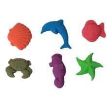 6Pcs/set Cute Mold Tool Magic sand Children Toy No-mess Play Sand Drawing Toys
