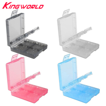 100pcs 16 in 1 Protective Game card Cartridge Shell Holder Case storage Box For Nintendo DS Lite 3DS XL LL(China)
