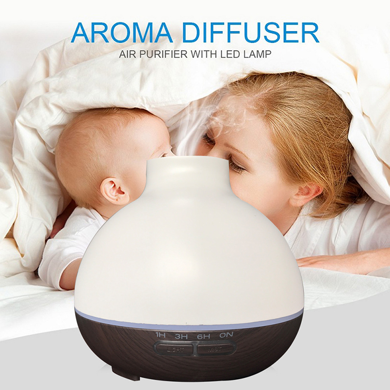 400ml Ultrasonic Humidifier Aroma Essential Oil Diffuser  Air Humidificadores With Night light Mist Maker fogger brumisateur<br>
