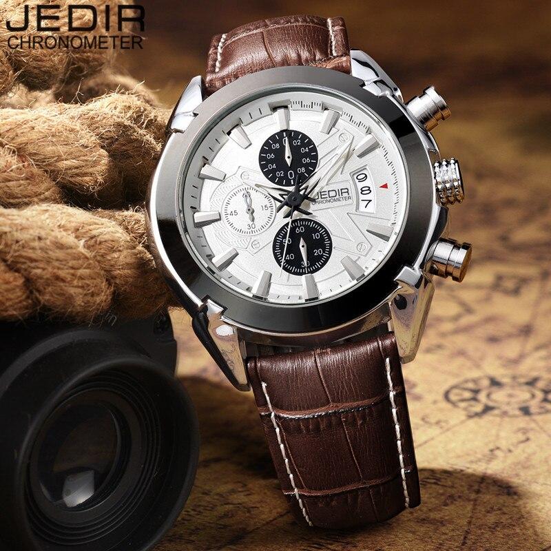 Mens Watches Top Brand Luxury JEDIR Men Military Sport Luminous Wristwatch Chronograph Leather Quartz Watch relogio masculino<br><br>Aliexpress