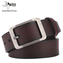 [DWTS]2017 belt men genuine leather luxury strap male belts for men buckle fancy vintage jeans cintos masculinos ceinture homme(China)