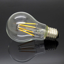 Edison New Design Dimmable 8W E27 220V 240V AC LED Lamp Filament COB Bulbs CRI 90 360 Degree chandelier Replace Halogen Light(China)