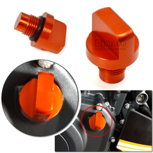 BJMOTO Motorcycle Accessories CNC Orange Aluminum Engine Magnetic Oil Drain Plug For KTM DUKE 125 200 390 RC 125 200 390(China)