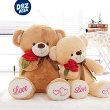 Lovely roses bear large teddy bear for girlfriend gift huge teddy bear valentine's day persent(China)
