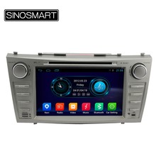 SINOSMART 8'' Quad Core Android 4.4 Car DVD GPS Navigation for Camry 2006-2011 Support 3G Modem External USB Port NO Canbus