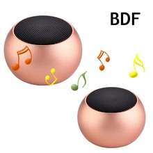 BDF Metal Mini Portable Speakers BM3D Wireless Stereo Bass Subwoofer Soundbar Speaker Bluetooth MIC Proffessional Active Speaker(China)