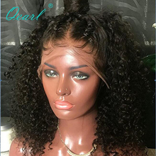 150% Density Remy Brazilian Wigs Baby Hair Deep Curl Natural Color Pre Plucked Lace Front Human Hair Wigs Women