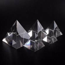 Many Size Energy Healing Small Feng Shui Egypt  Crystal Clear Pyramid Ornament Home Decor Living Room Decoration