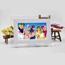 "7""inch HD  TFT LCD Wide Screen Desktop Digital Photo Frame with Calendar Digital Photo Display Frame Support TF Card"