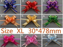 Size XL 30*478mm Pull Bows Ribbons Flowers Gift Wrapping Christmas Wedding Party Decoration Pullbows wholesale retail(China)