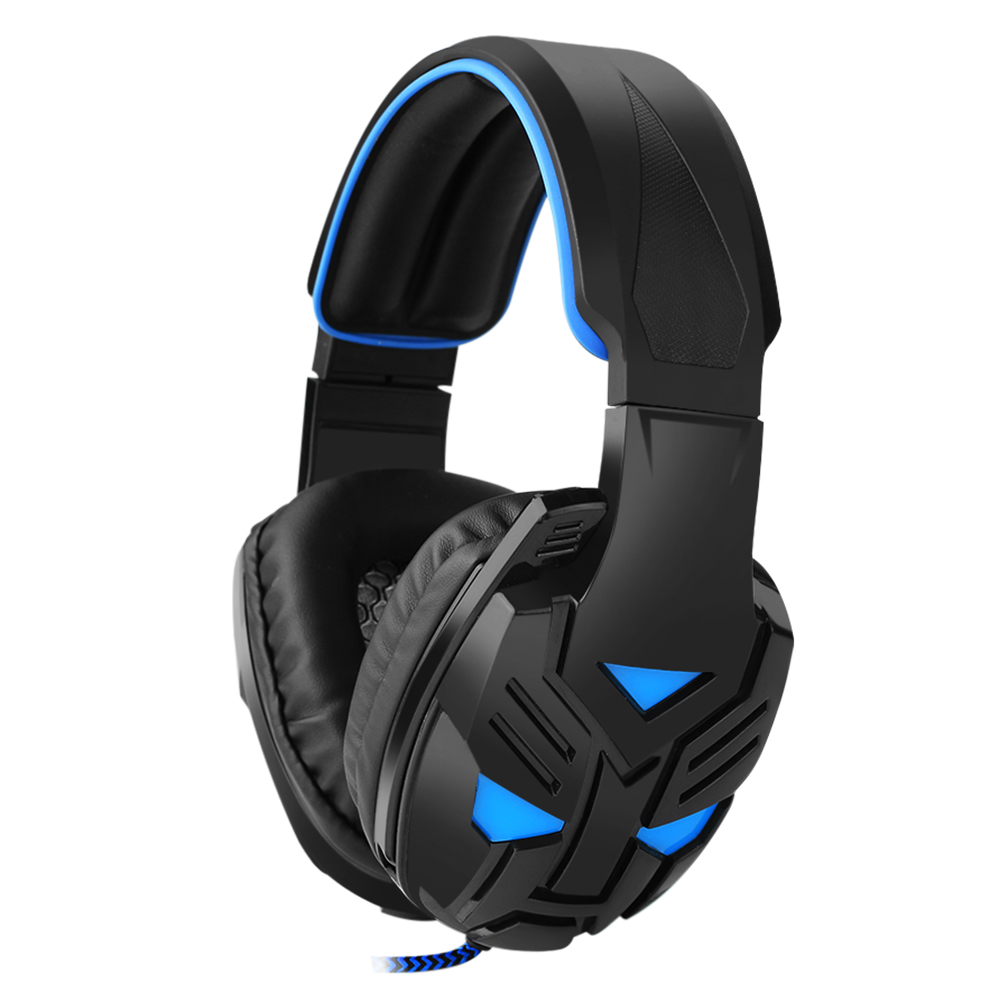 Original Gaming Headset with Microphone for PC PS4 Stereo Headphones Big Glowing Earphones Universal Wired Luminous Earpiece<br><br>Aliexpress