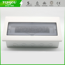 High quality flush mounting 13 - 16 ways distribution box metal base and Plastic surface(China)