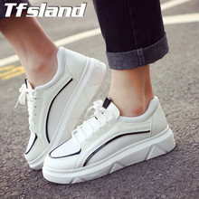 Buy New Women Flats Canvas Shoes Soft Thick Bottom White Shoes Breathable Student Sports Walking Running Shoes Sneakers Zapatillas for $18.07 in AliExpress store