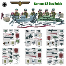 Limited WW2 Anti-Fascist Battle of Kharkov Eastern Front German SS Army Building Block Military Small Toy Figure Collection D166