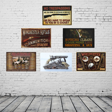 Vintage Home Decor Winchester Rifles Metal Sign PUB Home Hotel Decoration Vintage Painting Wall Poster Art 20*30 CM(China)