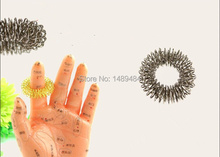Fast Delivery by Express 500pcs/lot Acupuncture massage Ring Finger Massager Ring hand Pain Therapy Massage(China)