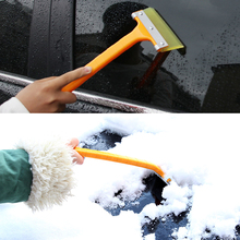 Car-styling Vehicle Auto Snow Cleaning Remover Windshield Snow Shovel Handheld Ice Scraper Snow Brush Scraper Car Ice Scraper(China)