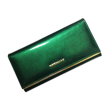 100% Genuine leather Cowhide Women's Wallets Patent Leather Long Ladies Wallets Clutch Design Purse Hand Bags Women Purses