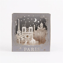 3D Laser Cut Handmade Carving Paris Model Paper Invitation Greeting Cards PostCard Business Creative Gift Souvenir Collection