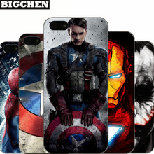 For iPhone 5 5S SE Hard PC Case Captain America iron Man Deadpool Design Fundas Phone Cover For iPhone 5 5s Capa Coque(China)