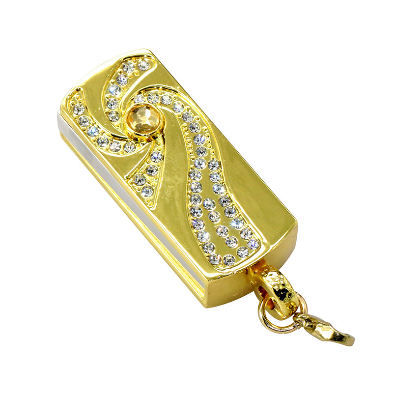 Metal Crystal Full Diamond Rotary Key Chain USB 2.0 Flash Drive 4GB 8GB 16GB 32GB 64GB 128GB Flash Disk Memory Stick Pendrive 23