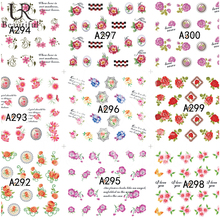 48 Sheets Sweet Flowers Nail Art Water Transfer Stickers Nail Tips Decals Mixed Designs Manicure Decoration Tools BEA289-366
