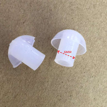 OPPXUN 50PCS replacement Silicone Earbud ear tips for baofeng two way radio acoustic tube earphone earpiece air tube headset