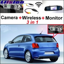 Liislee Special Rear View Camera + Wireless Receiver + Mirror Monitor Back Up Parking System For Volkswagen VW Polo GTi Derby(China)
