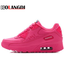 BOLANGDI 2017 Air Cushion Breathable Sneakers Women Summer Springs Athletic Outdoor Brand Sports Shoe Cozy Women Running Shoes