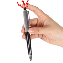 Fancy Ball Point Pen Shocking Electric Shock Toy Gift Joke Prank Trick Kids Funny Pen Toys(China)