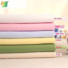 160x50cm1pc Good Quantity 100% Organic Cotton Knitted Fabric Solid Colour Fabric Sewing Material DIY Baby Clothing Quilting(China)