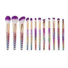 Excellent Quality 12PCS Make Up Foundation Eyebrow Eyeliner Blush Cosmetic Concealer Brushes Nylon Hair Anne(China)