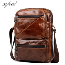 SCPEE 100% leather male bag briefcase business package shoulder bag A4 file bag, free shipping