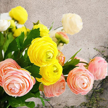 10Pcs Artificial Ranunculus Asiaticus peonies fake Flowers silk flores fleur artificiales peony for Wedding home decoration rose