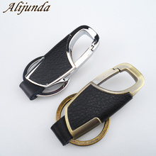 car styling Metal Head layer cowhide keyChain for Cadillac XTS SRX ATS CTS/Renault Koleos Fluenec Latitude