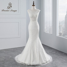 Buy PoemsSongs real photo 2018 new style Sexy chest Mermaid wedding dress sleeves lace Wedding Gown Vestido de noiva for $85.32 in AliExpress store