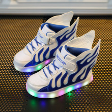 2017 Summer New Children Baby Luminous Shoes Boys Girls Blaze Wing Light Up Colorful Glowing Sneakers Kids Leisure Sports Shoe