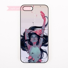 cool trendy hippop amine girl Hard Back Cover Phone Case For iphone 4 4s 5 5s 5c se 6 6S 7 Plus iPod Touch cases pretty women(China)