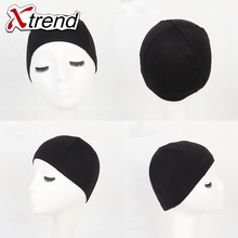 1-10pcs black spandex Dome Wig Caps Easier Sew In Hair Adjustable invisible glueless nylon stretch wig net cap for making wigs