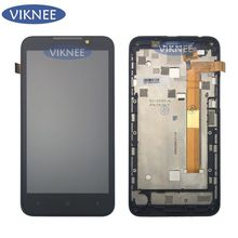 Full LCD Display + Touch Screen Digitizer Assembly Frame For HTC Desire 516 / Dual SIM 516w 516t free shipping