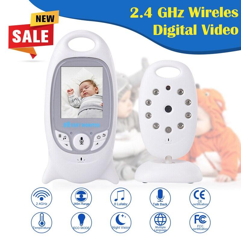 Infant 2.4GHz Wireless Baby Radio Babysitter Digital Video Baby Monitor Audio Night Vision Music Temperature wireless camera HIK<br><br>Aliexpress