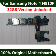 Europe Version For Samsung Note 4 N910F Motherboard 32GB 100% Original Mainboard With Chips IMEI 100% Good working logic board