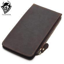 New Men Ultra-Thin Genuine Leather Big-Capacity Long Cards Package Multi-Card Bit Wallet Bag Man Bank Credit Card Holder(China)