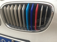 3D Car Grille Sport Stripe ABS Decal Sticker for  BMW 1 Series F20 F21 E87