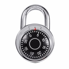 New Rotary Padlock Digit Combination Code Lock Safe Round Dial Number Luggage Suitcase Security Bicycle Suitcase Drawer Cabinet