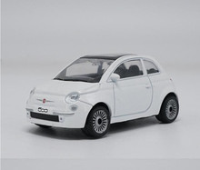 1:43 scale alloy car toy,  high imitation Fiat 500 sports car model, metal casting, children toy vehicles, free shipping