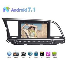 "In-Dash 8"" Android 7.1 Car DVD Player GPS for Hyundai Elantra 2016 support Radio/Bluetooth/RDS/SD/Online Offline Map/1080P Video(China)"
