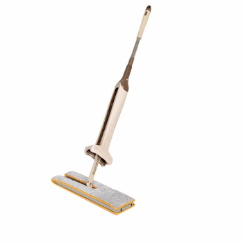 AMW Self-Wringing Double Sided Flat Mop Telescopic