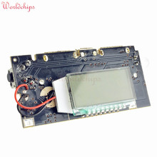 Automatic Protection! Dual USB 5V 1A 2.1A Mobile Power Bank 18650 Lithium Battery Charger Board Module Digital PCB Free Shipping
